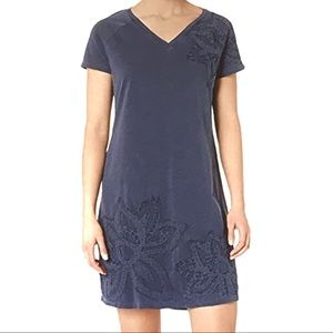 Life is good embroidered navy dress size L